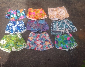 Vintage Hawaiian men's swim shorts bathing suit trunks deadstock 1970's new old flowered pick 1 pair not pants or jeans goes with sneakers
