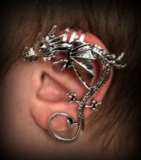 Dragon ear cuff for non pierced left or right ear by eeriebeth - Game of thrones dragon ear cuff ...