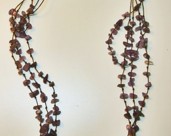 Amethyst Chip Multi-layered Necklace