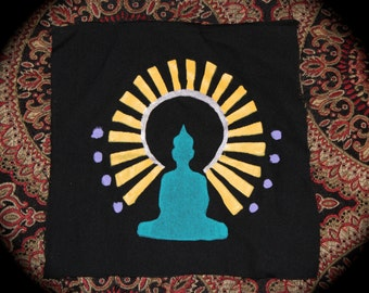 Buddha Screen Printed Patch