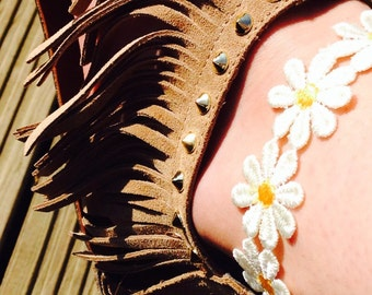 Daisy Chain Anklet, Floral Ankle Bracelet
