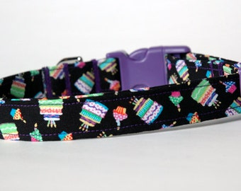 "Handmade Fun Birthday Design Dog Collar ""New"""