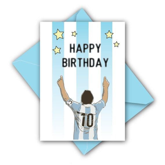 Messi Birthday Greetings Card Argentina 2016 By JCornerBerlin