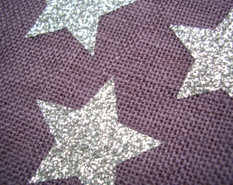 12 Star glitter iron-on appliques