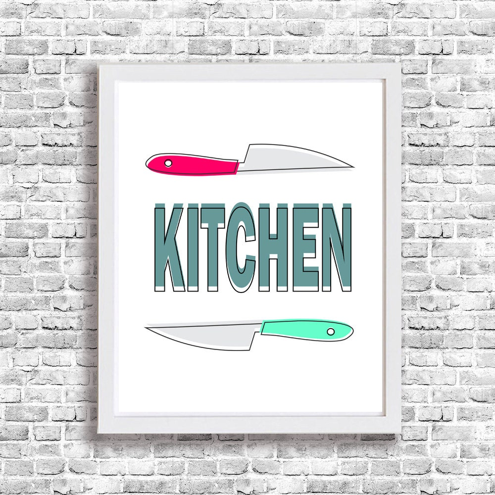 Kitchen wall art printable funny poster signs knive wall decor for Free printable funny posters