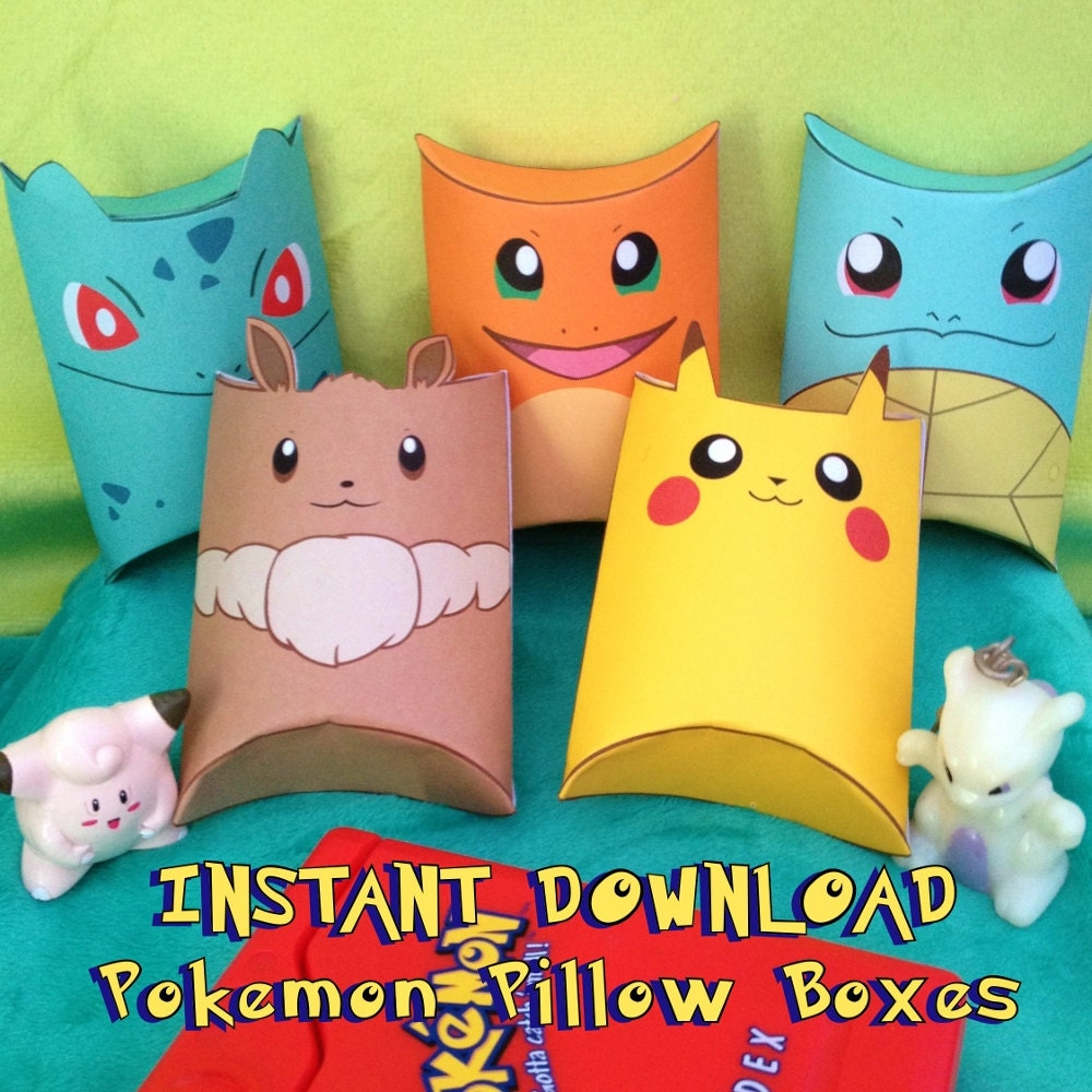 Love Quotes About Life: Pokemon Inspired Party Pack Instant By MissFrightsDelights