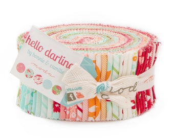 Hello Darling Jelly Roll - Bonnie and Camille - Moda Fabrics - IN STOCK - Ready to Ship