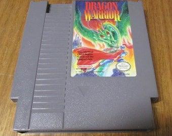 Vintage Nintendo Video Game DRAGON WARRIOR. Original NES Game Cartridge, Classic Rpg, Retro Role Playing Game.