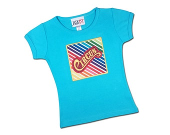 Girl's Circus Shirt with Circus Box and Embroidered Name