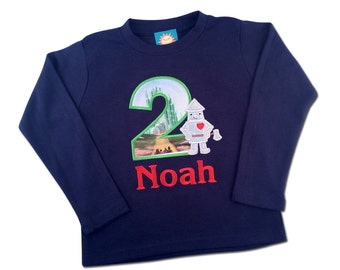 Tin Man Shirt - The Wonderful Wizard of Oz Tin Man Boy's Shirt with Number and Embroidered Name