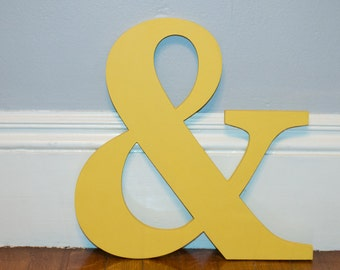 13 inch ampersand symbol ampersand prop  &  ampersand decor miniature ampersand to coordinate with out baby name plaques
