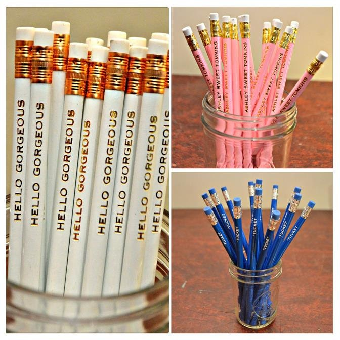 Pencils Custom Name Pencils Wedding Favor Teacher Gift