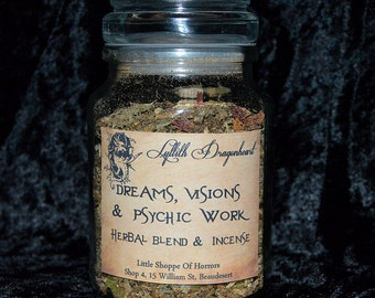 Dreams, Visions & Psychic Powers - Ritual Incense Blend; herbs resins and essential oils