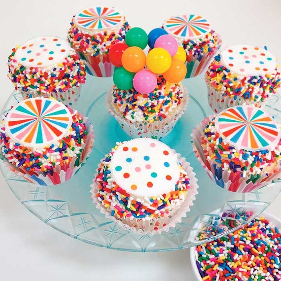 Rainbow Sprinkles Colorful Jimmies For Funfetti Cakes