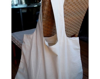 Natural Cotton Tote Shopping Bags, 19-inch