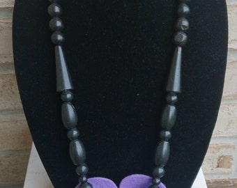 African Inspired Carved Claw-like Necklace