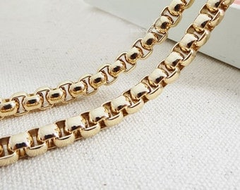7mm wide light weight golden chains for purse,chain shoulder,chain for bag