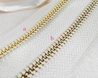 5# Metal zipper,40inch(100cm) Copper Zipper Slider dress zippers.