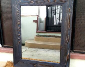 wood mirror, vanity mirror