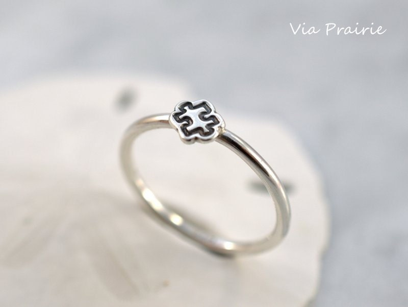 puzzle ring puzzle ring autism awareness stackable