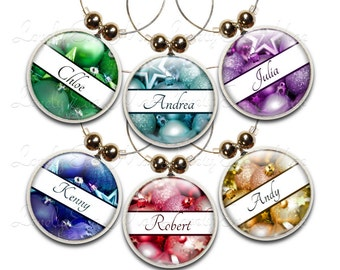 Personalized Wine Charms, Christmas Wine Charms, Ornament Wine Charms, Wine Gift, Wine Glass Jewelry, Custom Wine Charm, Wine Accessories