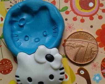 Kitty  silicone mould mold for fimo / sculpy / sugar craft / fondant cake topper