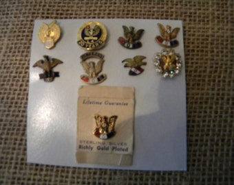 Lapel Pin - Fraternal Order of the Eagle lapel Pins : Selling as complete group..Antique - Vintage