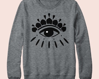 Eye On You - Sweatshirt, Crew Neck, Graphic