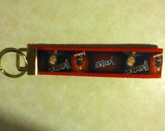 Blake Shelton( Country music ) key chain, zipper pull, wristlet, key fob holder