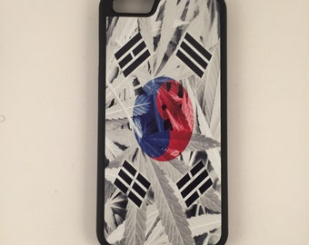 "Korean Weed Flag iPhone 6 4.7"" 6 Plus 5.5"" Hybrid Rubber Protective Case Korea"