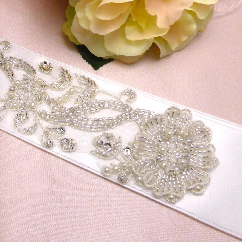 Beaded bridal sash Swarovski bridal sash belt bridal belt