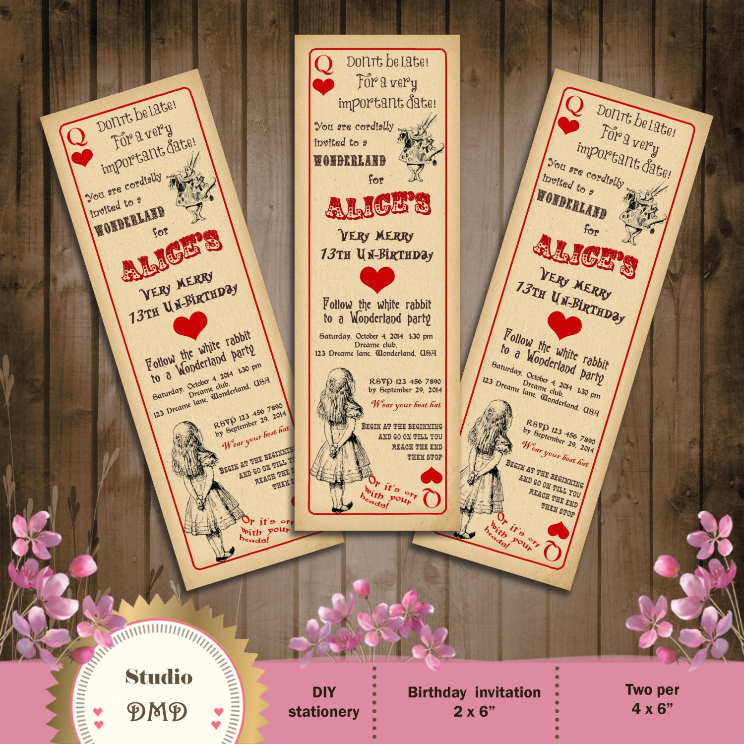 Play date invitation – Playing Card Party Invitations