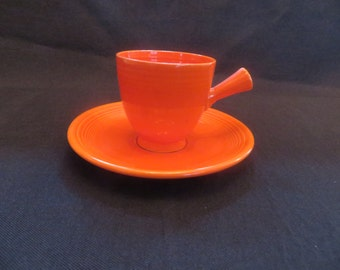 Vintage Orange Cup and Saucer, 1940's*