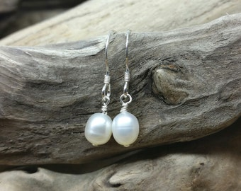 Handmade Sterling Silver & Freshwater Pearl Earrings