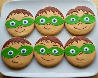 Super Why Cookies One dozen (Individually Bagged )
