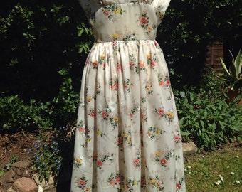 Vintage 1950s floral dress.