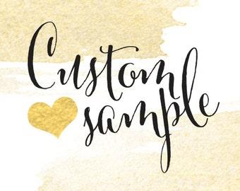 Custom Sample