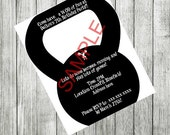 KettleBell Exercise Party Digital Invitation, Birthday, Save The Date, Wedding, Shower, Gym, Fitness, OTHER COLORS AVAILABLE 5x7 or 4x6