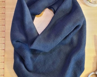 Navy Blue Fleece Triangle Scarf