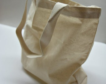 "14*14"" Plain unbleached Cotton Oxford tote bag, Mareket bag, Eco friendly cotton fabric Style#102"