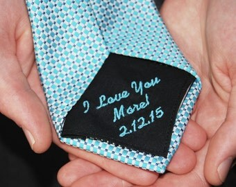 Wedding Tie Patch Monogrammed for the Husband to Be/ Groom or Father of the Bride on your Special Day!