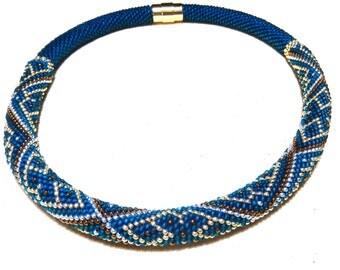 """Scheherazade's Fable Bead Crochet Necklace 18/5"""""""