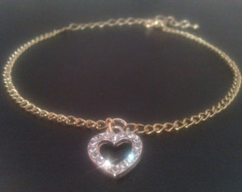 Exquisite Ankle Bracelet with a 'heart' shaped feature