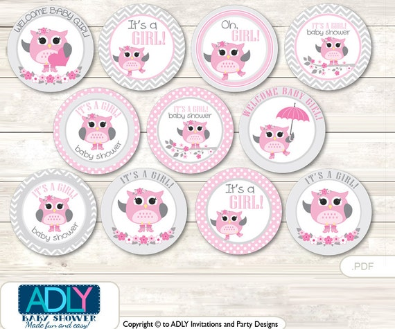 Spring Owl Cupcake Toppers For Baby Shower Printable Diy