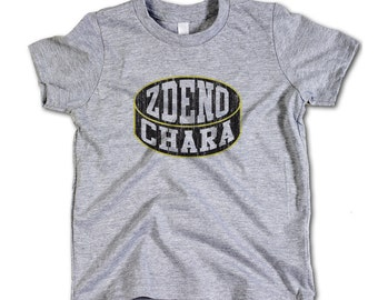 Zdeno Chara NHLPA Officially Licensed Boston Toddler and Youth T-Shirts 2-12 Years Zdeno Chara Puck K