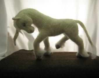Needle Felted Wool Unicorn Sculpture