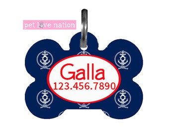 Personalized  Pet Tag, Dog Tag, ID Tag, Nautical Pet Tag With Name And Phone Number