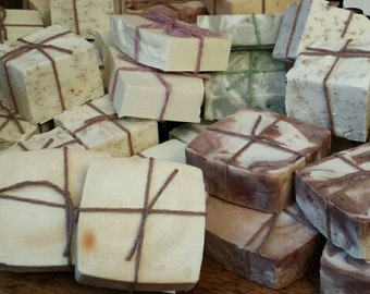 6 bars of Hand- Crafted Olive Oil  soap - Lemongrass, Mint, Lavender, Rosemary, Orange, Cranberry, Citrus and more