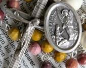 Saint Raphael Rosary Catholic Rosaries Saint Rosary St Raphael Rosary Confirmation Gift Guardian Angel Rosary