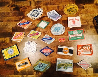Fantastic Vintage NOS Paper Soda Labels - Ephemera - Advertising - Random Lot of 20 Labels